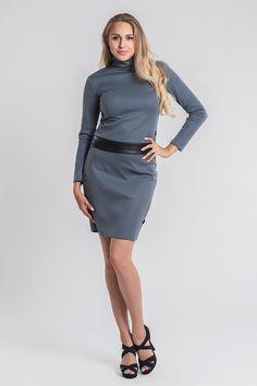 Golf SL1047 www.fajne-sukienki.pl Golf, High Neck Dress, Dresses For Work, Sweaters, Fashion, Turtleneck Dress, Moda, Fashion Styles, Sweater