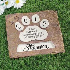 Personalized Pet Memorial Stones - Zoom