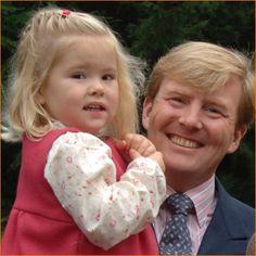 Prins Willem-Alexander en zijn oudste dochter in 2006