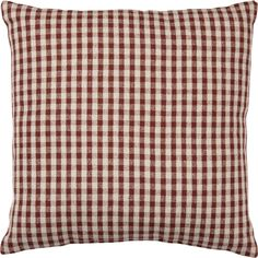 Rooster Accent Pillow RED Ticking Handmade in USA  ~ Rustic Prim Farmhouse Decor
