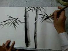 sumi-e bamboo painting demo