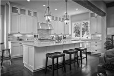 Loving this kitchen of a new Mediterranean/Transitional style home in Atlanta