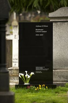 I always hated tombstones. I don't want a tombstone. I want to be cremated and sent to space. Or buried at sea. But if I had to have a tombstone, it will be similar to this, in Helvetica.