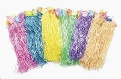 LUAU - 6 Kids Flowered Polynesian Hula Skirts Assorted Colors ** Read more reviews of the product by visiting the link on the image.