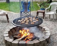Fire Pit Ideas Backyard - 75 Easy and Cheap Fire Pit and Backyard Landscaping Ideas Cheap Fire Pit, Diy Fire Pit, Fire Pit Backyard, Backyard Patio, Back Yard Fire Pit, Backyard Fireplace, Backyard Seating, Diy Fireplace, Fireplace Design