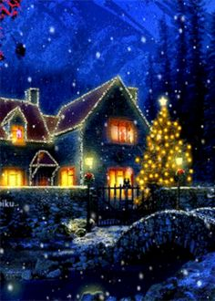 Discover & share this Animated GIF with everyone you know. GIPHY is how you search, share, discover, and create GIFs. Christmas Night, Christmas Scenes, Blue Christmas, Outdoor Christmas, Christmas Pictures, Beautiful Christmas, Vintage Christmas, Merry Christmas, Magical Christmas