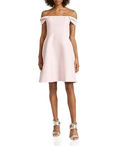 438bf35e571 HALSTON HERITAGE Off-The-Shoulder Faille Dress Shoulder Dress