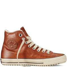 Converse - Chuck Taylor All Star Boot - Pinecone - Hi Top Converse Leather Shoes, Brown Leather Sneakers, Women's Shoes, Brown Converse, Shoes Sneakers, Leather Trainers, Converse Men, Adidas Shoes, Vans