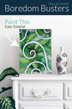 Easy Painting Tutorial: Watercolor Spiral with dots Fun Arts And Crafts, Arts And Crafts Projects, Fun Crafts, Acrylic Craft Paint, White Acrylic Paint, Easy Art, Simple Art, Boredom Busters, Contemporary Artwork
