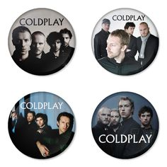 COLDPALY Rock Band logo Button Badge 1.75 inch Set. 4 pcs in package. You can choose back side of badge. we have Pinback ($7.49), Fridge Magnet ($8.49), Pocket Mirror ($8.49), Bottle opener Keychain ($9.99). The best Ideas Gift for men, Birthday, Party, Fashion, Concert. Member is chris martin, guy berryman, will champion, jonny buckland. Famous studio album is ghost stories, mylo xyloto, a rush of blood to the head, parachutes, viva la vida or death and all his friends, x&y.