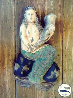 Hand Carved & Hand Painted Mermaid
