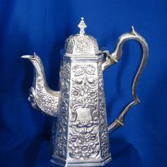 #Irish #Antique #Silver #Coffee #Pot Diamond Rings, Diamond Engagement Rings, Galway Ireland, Unique Vintage, Dublin, Metals, Antique Silver, Tea Pots, Irish