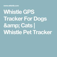 Whistle GPS Tracker For Dogs & Cats | Whistle Pet Tracker. Whistle 3 combines cellular and GPS technology and can track an animal up to 3,000 miles away!