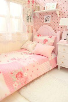 "Items similar to Bedroom OOAK Diorama ""Pink Kaleidoskope"" Blythe/Pullip/BJD/Pure Neemo/Lati/Pukifee/Yosd on Etsy Cute Girls Bedrooms, Teenage Girl Bedrooms, Shabby Chic Bedrooms, Small Room Bedroom, Teen Bedroom, Small Rooms, Master Bedroom, Bedroom Furniture, Bedroom Decor"