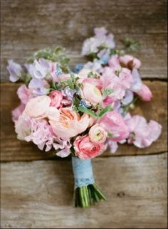 Pastel Wildflower Bridal Bouquet | Ryan Ray Photography
