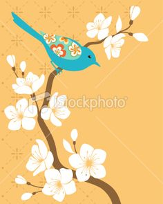 Sakura branch Royalty Free Stock Vector Art Illustration