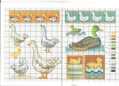 canard * point de croix * cross stitch duck