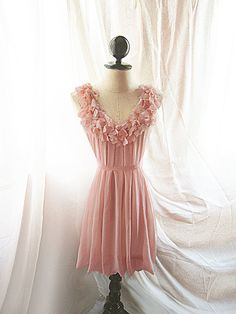 Blush Dusty Peach Pink Angel Hearts Love Spring by RiverOfRomansk, $46.80