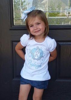 Girl Cinderella Applique Carriage Shirt--- Girls Disney Shirt---Cinderella---Princess Carriage---Personalized Disney Shirt-- by CreationDesignsMH on Etsy https://www.etsy.com/listing/232472267/girl-cinderella-applique-carriage-shirt