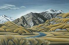 "Large Canvas Print by NZ Artist Diana Adams ""Aspiring Land"" on sale at NZ Fine Prints"