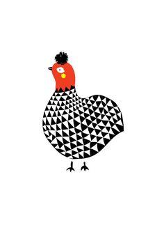 Hen Art Print, Animal Illustration, Drawing, Illustration, Children Room, Kids room, Nursery room Art, home decor, Home interior by dekanimal on Etsy