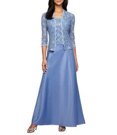 34e755a3cf5 Alex Evenings Sequin A-Line Jacket Dress  Dillards Petite Gowns