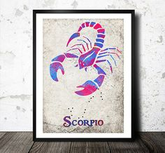 Hey, I found this really awesome Etsy listing at http://www.etsy.com/listing/173563563/zodiac-sign-art-print-scorpio-modern