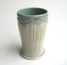 MADE TO ORDER Rain Cloud Porcelain Tumbler by SilverLiningCeramics, $36.00