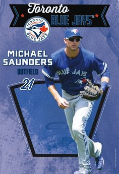 Michael Saunders Sports Figures, Toronto Blue Jays, Baseball Cards, Mlb, Board, Places, Planks, Lugares