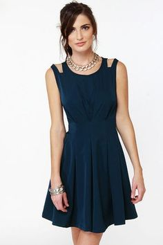Navy Blue Dress - Wedding Diary