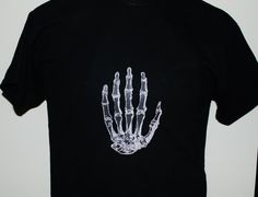 Tshirt Casual Free shipping  THE HUMAN HAND White by Zedezign