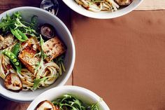 Having lunch al desko today? We're bunkering down with this udon noodle salad with teriyaki tofu. Find this gluten-free, meat-free, protein, calcium and iron enriched recipe online. Tofu Recipes, Noodle Recipes, Salad Recipes, Vegetarian Recipes, Cooking Recipes, Healthy Recipes, Dinner Recipes, Tasty Snacks, Delicious Meals