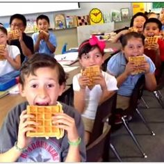 "Second graders learn their directions by writing a song and creating a music video using the mnemonic device ""Never eat soggy waffles."""