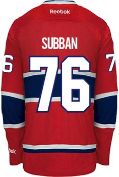 Montreal Canadiens P.K. SUBBAN  76  A  Official Home Reebok Premier Replica NHL  Hockey 59911f503