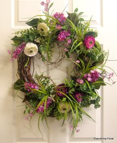 Pretty purples! SPRING WREATH by EverythingFloral