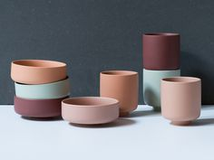 """Your choice of colours can affect the atmosphere in your home,"" Anna says. Colourful ceramics, prices from DKK 12,90 / SEK 18,60 / NOK 18,80 / EUR 1,84 / ISK 298 / GBP 1.77"