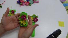 Balacas para bebes y pies descalzos flores pétalos kanzashi , Accesorios...