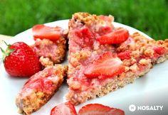 Epres-kókuszos zabpite Bruschetta, Salmon Burgers, Tuna, Sushi, Paleo, Goodies, Food And Drink, Healthy Recipes, Healthy Meals