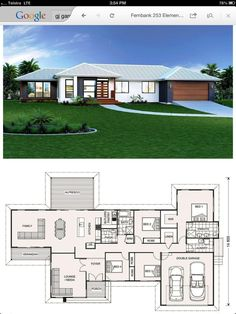 Dazzling Modern Contemporary Decor Ideas - Architecture Diy - 14 Dazzling Modern Contemporary Decor Ideas 7 Incredible Cool Ideas: Classic Contemporary Design c - 4 Bedroom House Plans, Family House Plans, Dream House Plans, Modern House Plans, Small House Plans, Modern House Design, House Floor Plans, Contemporary Apartment, Contemporary Garden