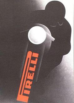 design-is-fine: Gerhard Forster, poster for Pirelli tires,...