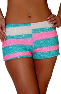 *sparkly shorts*