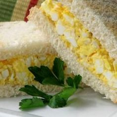 Delicious Egg Salad for Sandwiches Recipe- for me, cut back on the mayo, add diced celery, and a dash of dill