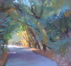 I had a great time painting this last week up in Sonoma County for Sonoma Plein Air . I am fortunate to be able to participate in this ev. Pastel Landscape, Watercolor Landscape, Landscape Art, Landscape Paintings, Oil Pastel Art, Pastel Drawing, Pastel Paintings, Beautiful Paintings, Beautiful Landscapes