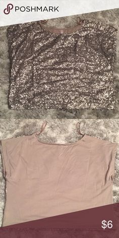 Xhileration gold sequin top. Xhileration, size large. Gold sequin top. Xhilaration Tops
