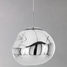 NEW TOM DIXON MELT PENDANT CEILING LIGHT: UNIQUE CLEAR ON - MIRROR OFF DESIGN