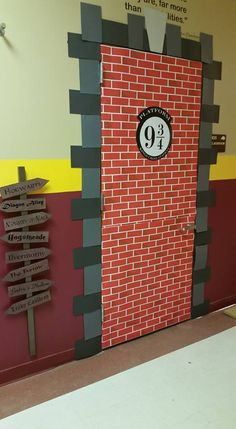 My classroom door the day of our Harry Potter book study party . . .