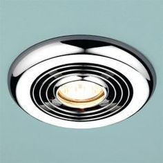 Hib Turbo Inline Bathroom Fan Light Chrome