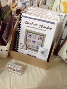 NEW BOOK - Jacobean Garden Appliqué Patterns and Projects