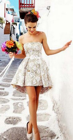 Cheap Homecoming Dresses Charming Strapless Lace Homecoming Dresses,Short