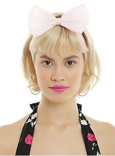 Un-bow-lievable // Ivory Pastel Pink Large Bow Chiffon Headband 2-Pack